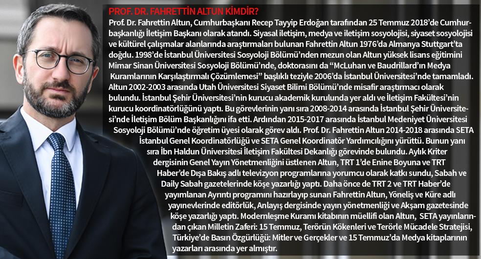 Prof. Dr. Fahrettin Altun Kimdir
