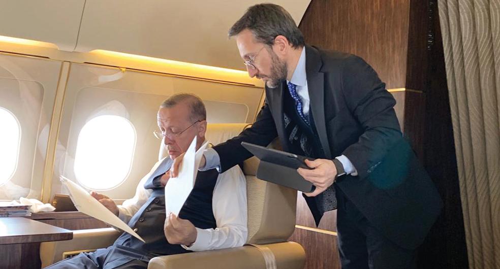 Cumhurbaşkanı Recep Tayyip Erdoğan ve Prof. Dr. Fahrettin Altun