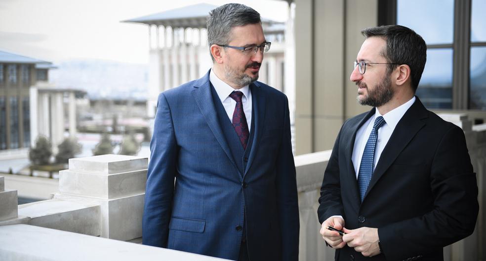 SETA Genal Koordinatörü Burhanettin Duran ve Cumhurbaşkanlığı İletişim Başkanı Prof. Dr. Fahrettin Altun