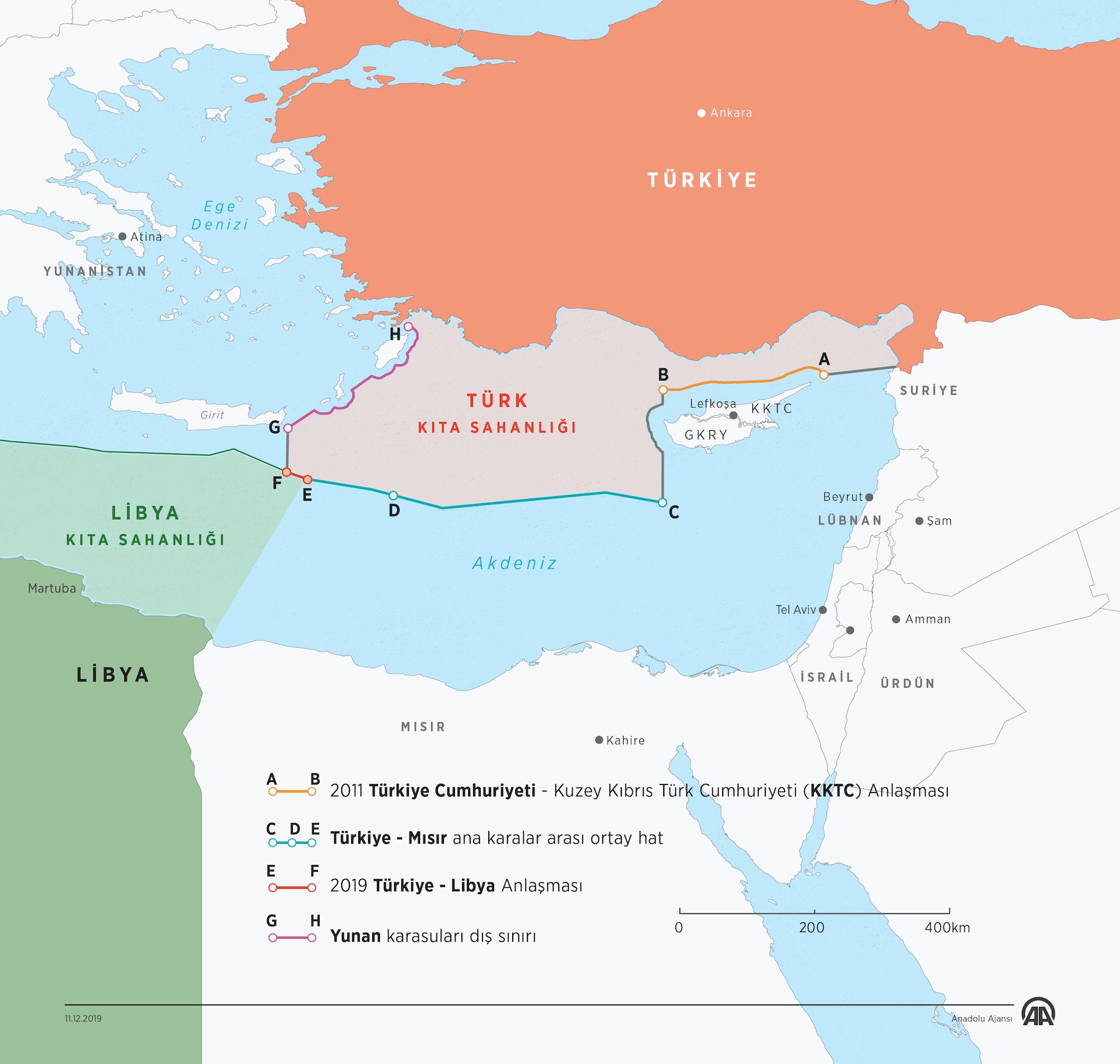 Doğu Akdeniz ve Libya (Kıta Sahanlıkları)