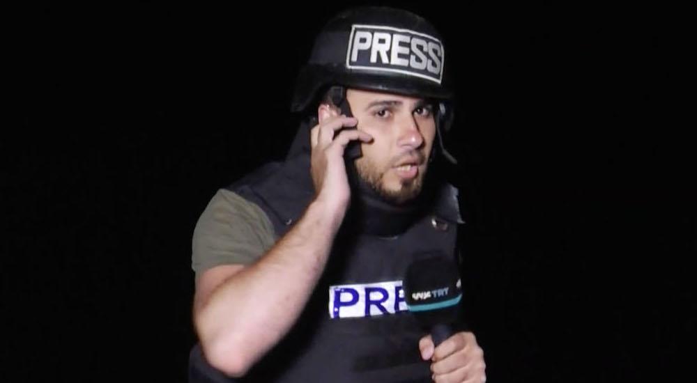 TRT Arapça Kanalının muhabirlerinden Sami Berhum